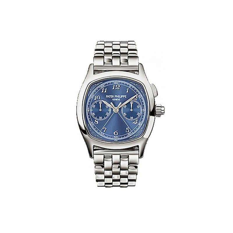 Patek Philippe Split-Seconds Chronograph 5950 Stainless Steel / Blue / Bracelet 5950/1A-010