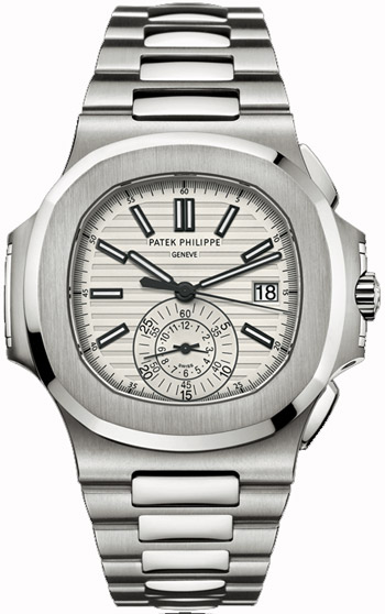 Patek Philippe Nautilus Chronograph Silver Dial Steel 5980/1A-019