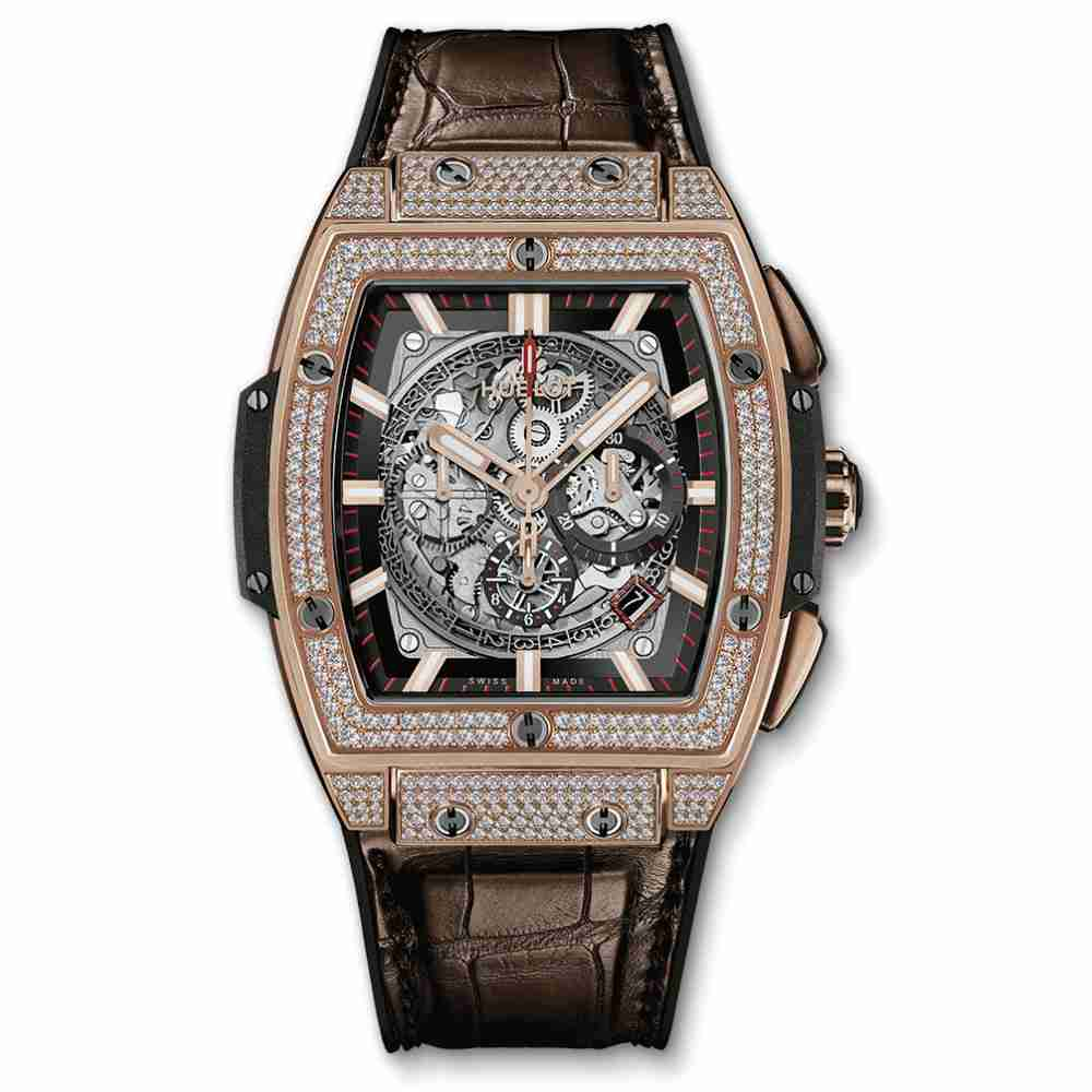 Hublot Spirit Of Big Bang King Gold Pave Replica