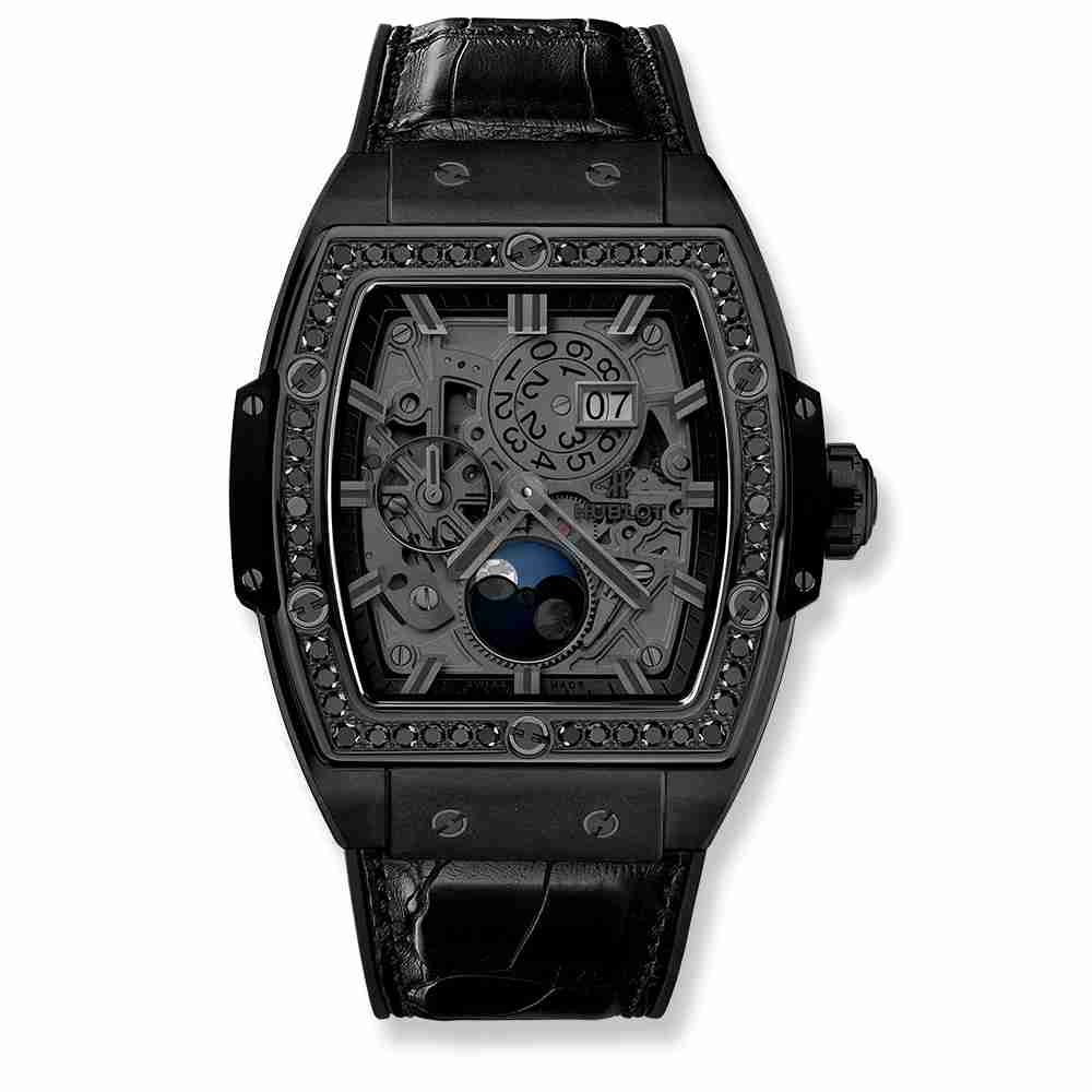 Hublot Spirit Of Big Bang Moonphase All Black DIamonds 42mm Replica