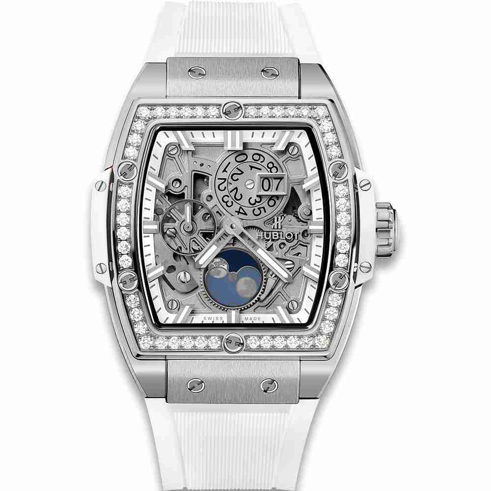 Hublot Spirit Of Big Bang Moonphase Titanium White Diamonds 42mm Replica