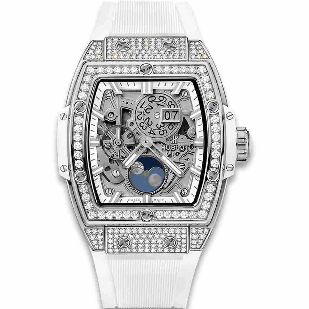 Hublot Spirit Of Big Bang Moonphase Titanium White Pave 42mm Replica