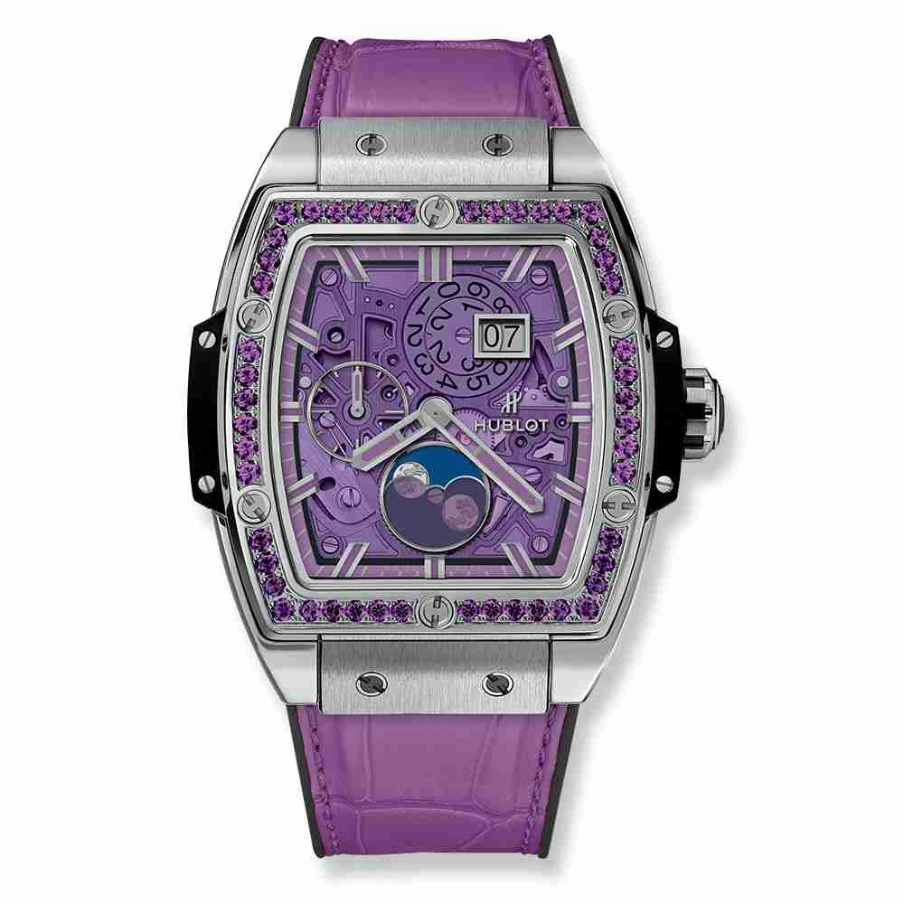 Hublot Spirit Of Big Bang Moonphase Titanium Purple 42mm Replica