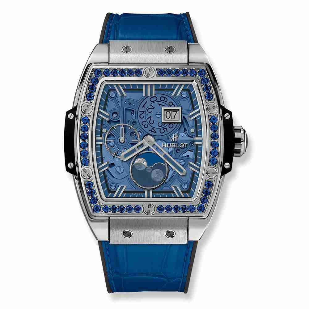 Hublot Spirit Of Big Bang Moonphase Titanium Dark Blue 42mm Replica