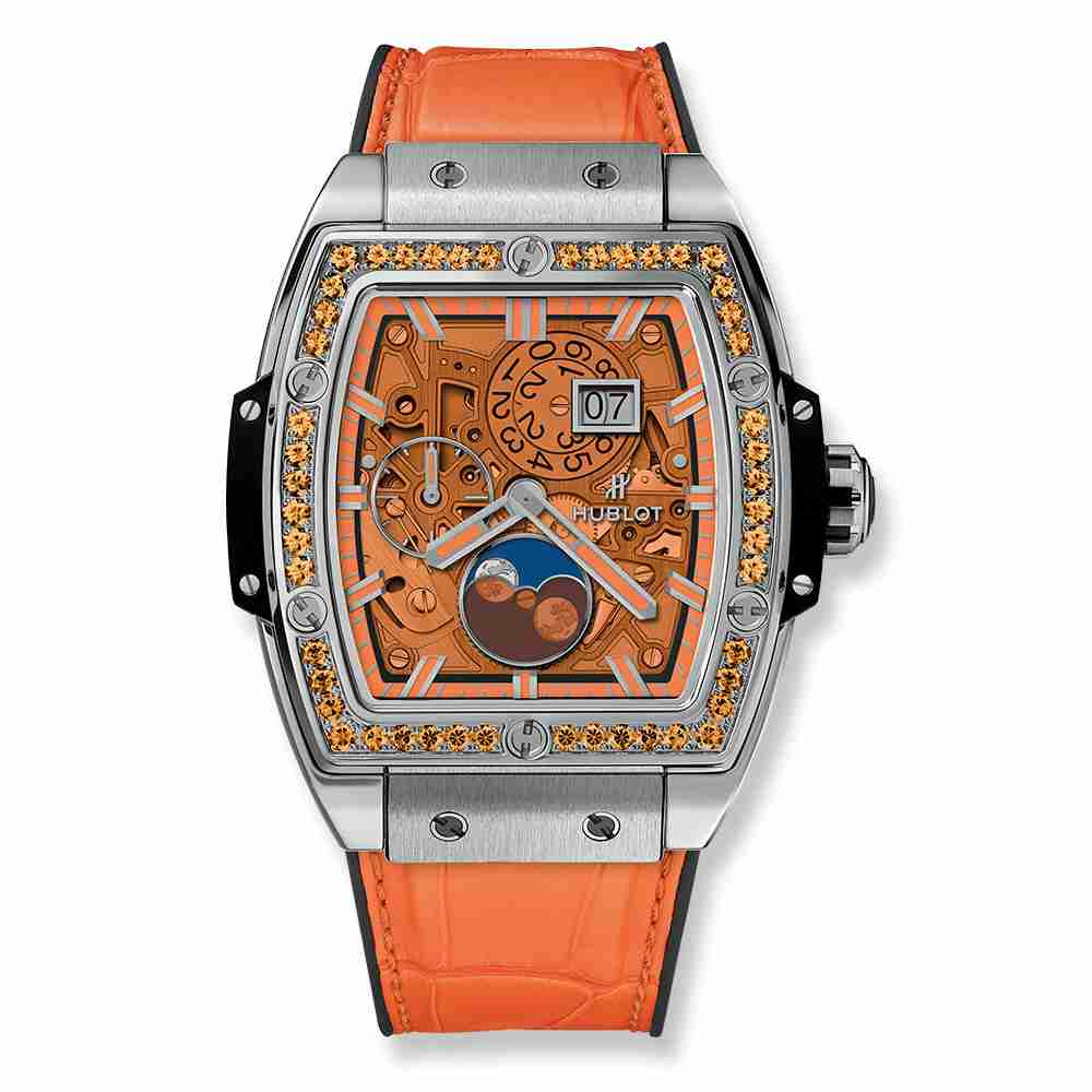 Hublot Spirit Of Big Bang Moonphase Titanium Orange 42mm Replica