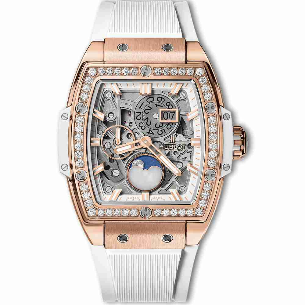 Hublot Spirit Of Big Bang Moonphase King Gold White Diamonds 42mm Replica
