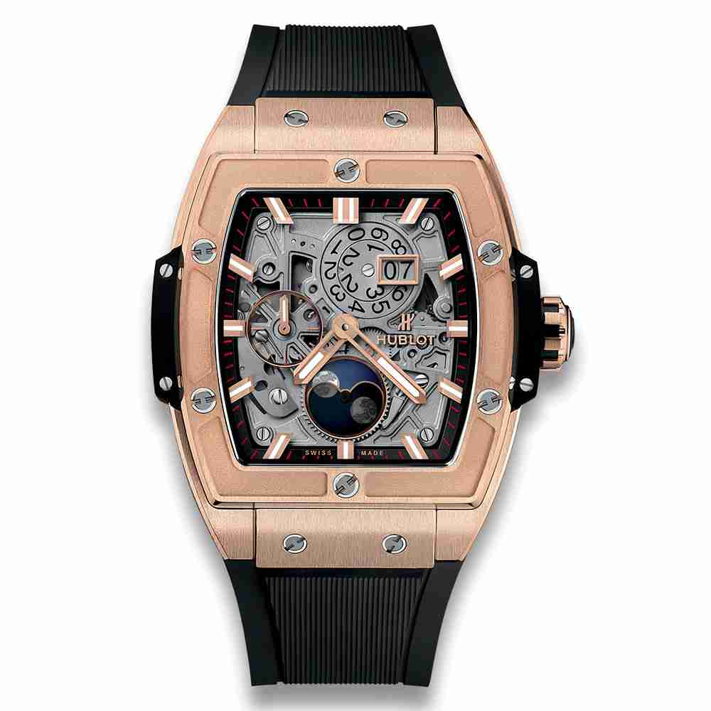 Hublot Spirit Of Big Bang Moonphase King Gold Replica - Click Image to Close