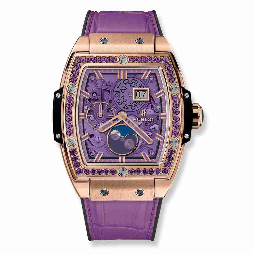 Hublot Spirit Of Big Bang Moonphase King Gold Purple 42mm Replica