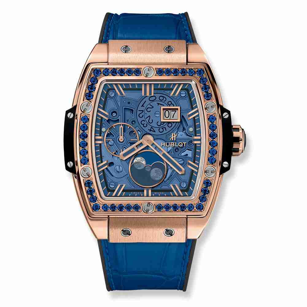 Hublot Spirit Of Big Bang Moonphase King Gold Dark Blue 42mm Replica
