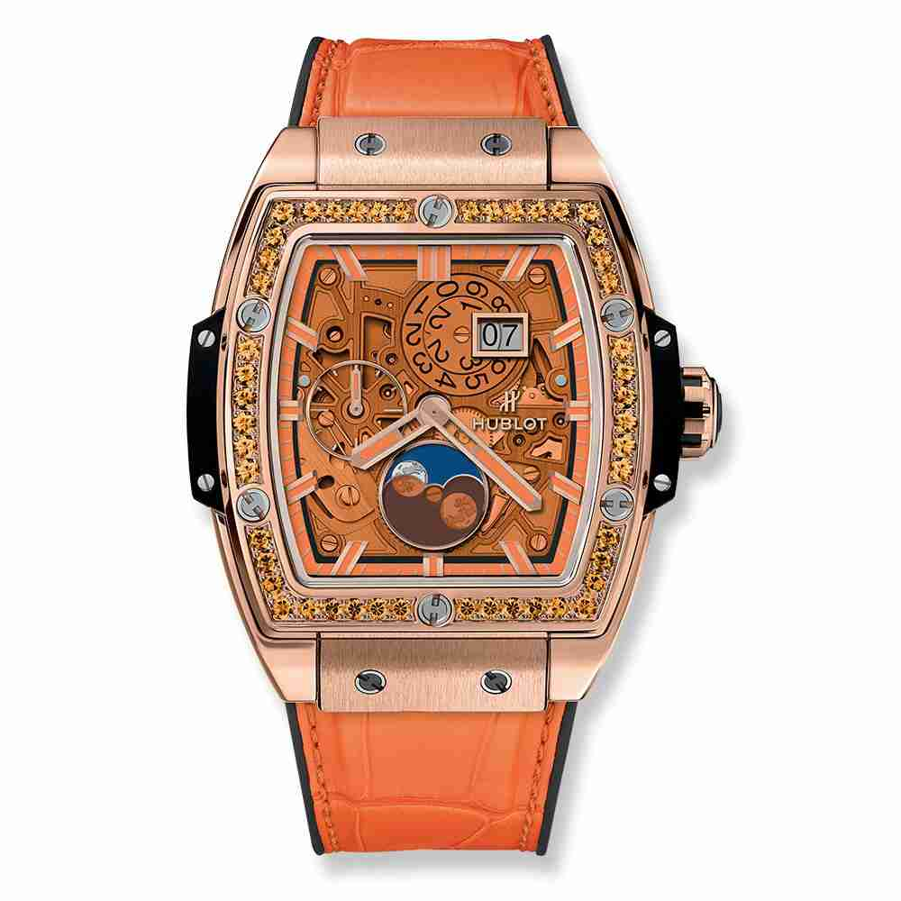 Hublot Spirit Of Big Bang Moonphase King Gold Orange 42mm Replica