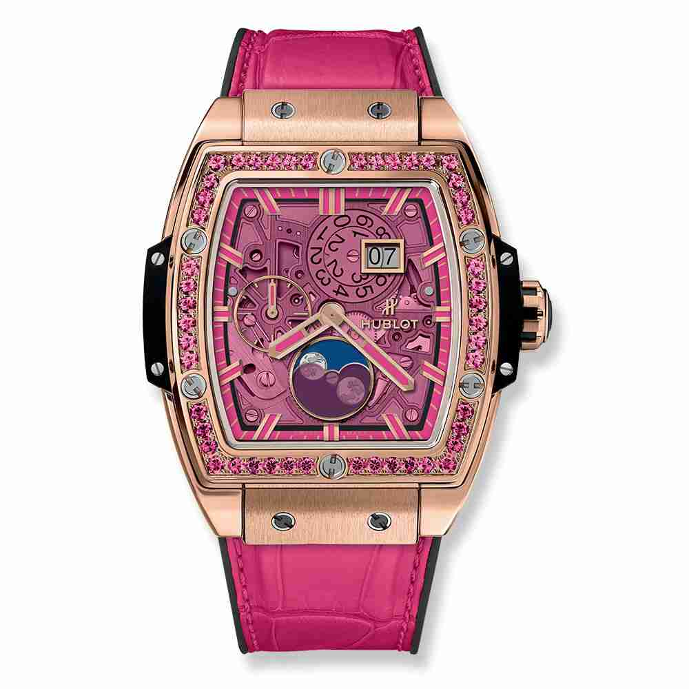 Hublot Spirit Of Big Bang Moonphase King Gold Pink 42mm Replica