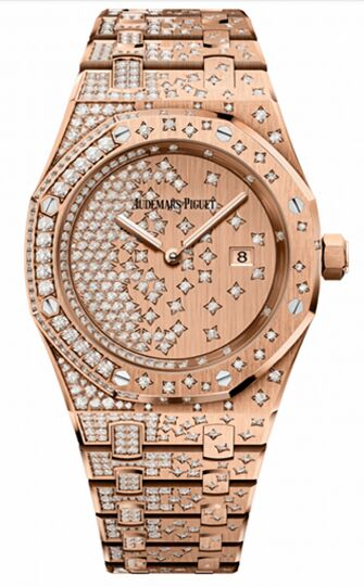 Audemars Piguet Royal Oak Quartz Rose Gold Watch Replica