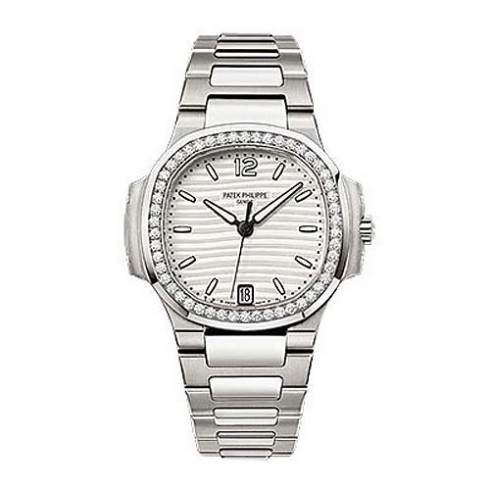 Patek Philippe Nautilus Diamond Stainless Steel Ladies 7018/1A-001