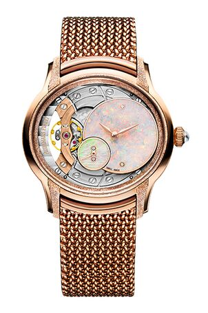 Audemars Piguet Frosted Millenary Gold Opal Dial Rose Gold Watch Replica