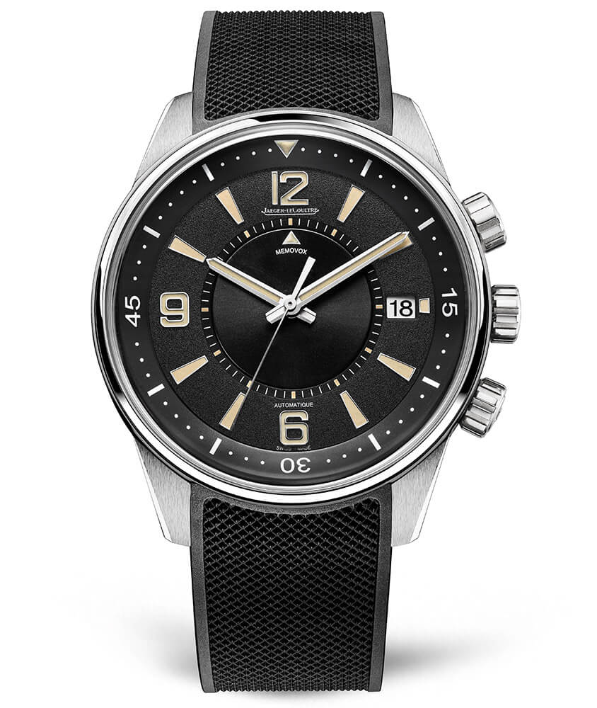 Jaeger-LeCoultre 9038670 Polaris Memovox Stainless Steel/Black/Rubber Replica