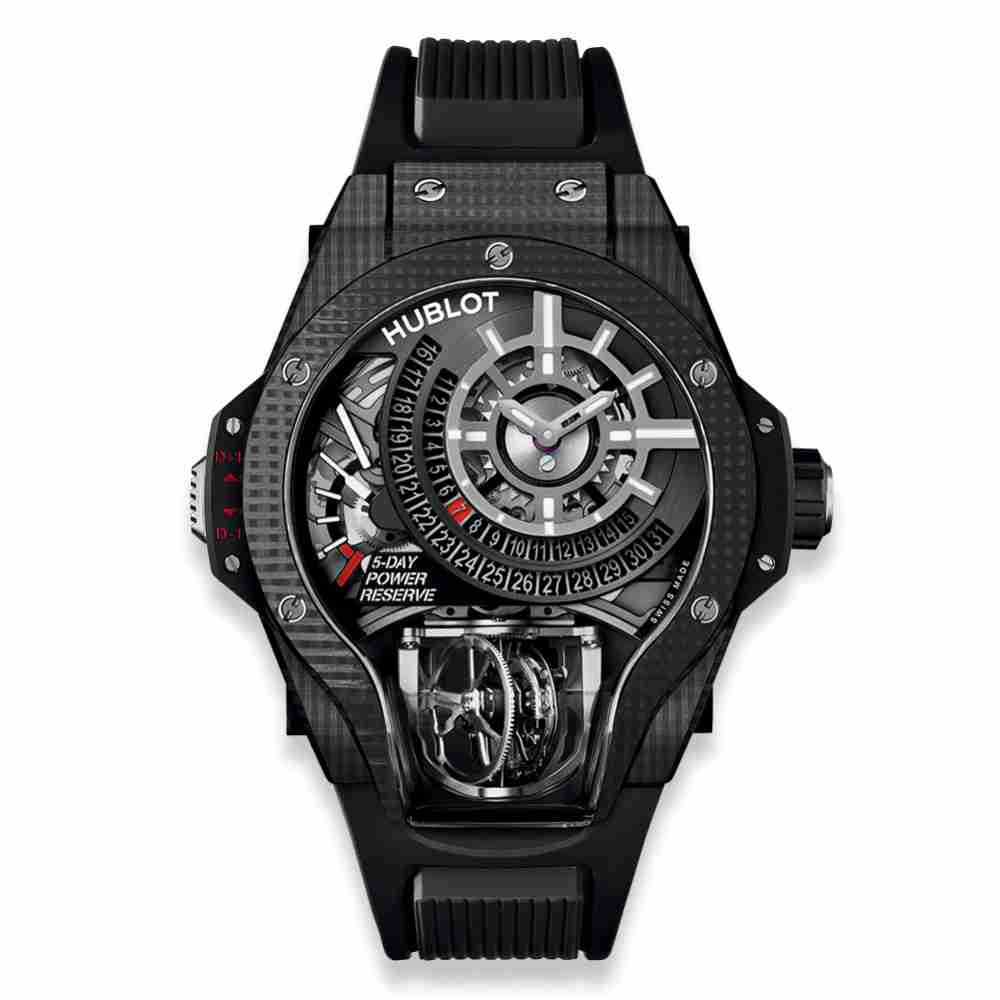 Hublot MP-09 Tourbillon Bi-Axis 3D Carbon Replica