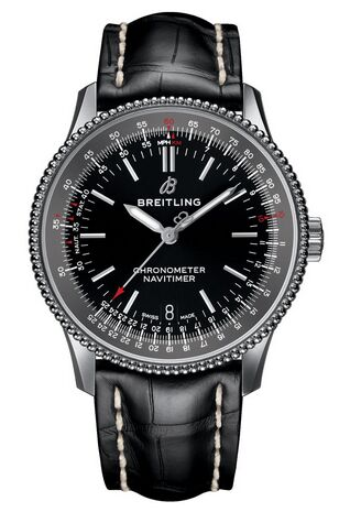 Breitling Navitimer 1 Automatic 38 Black Dial Mens Watch Replica