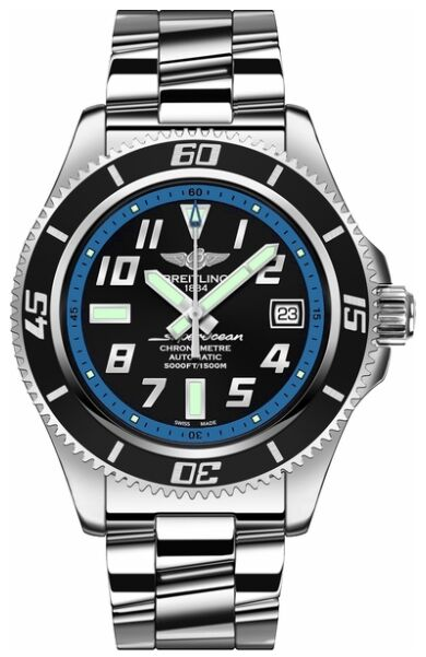 Breitling Superocean Abyss 42 Automatic Black Dial Mens Watch Replica