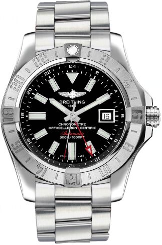 Breitling Avenger II GMT Black Dial Mens Watch Replica