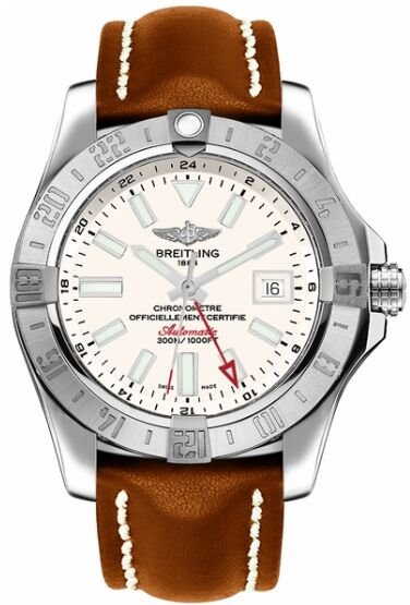 Breitling Avenger II GMT Automatic Silver Dial Mens Watch Replica
