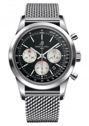 Breitling Transocean Chronograph Steel Watch Replica - Click Image to Close