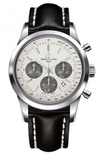 Breitling Transocean Chronograph Stainless Steel Watch Replica