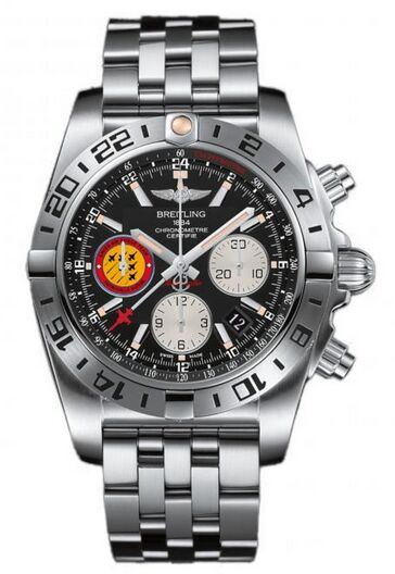 Breitling Chronomat 44 GMT 50th Anniversary Patrouille Suisse Stainless Steel Watch Replica