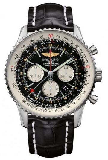 Breitling Navitimer GMT Stainless Steel Watch Replica