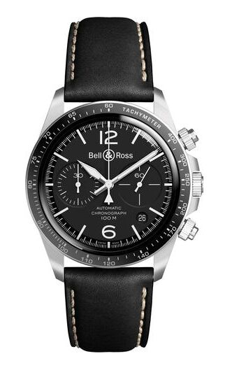 Bell & Ross Vintage BR V2-94 Black Steel Watch Replica