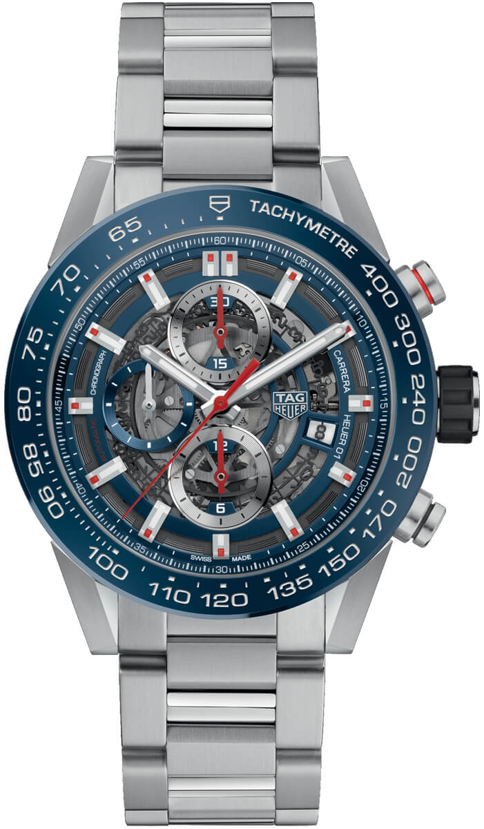Tag Heuer Carrera Skeleton Dial Automatic Mens Chronograph Watch Replica