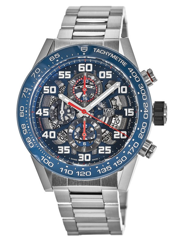 Tag Heuer Carrera Skeleton Automatic Chronograph Mens Watch Replica