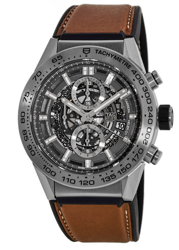 Tag Heuer Carrera Caliber Heuer 01 Skeleton 45mm Mens Watch Replica