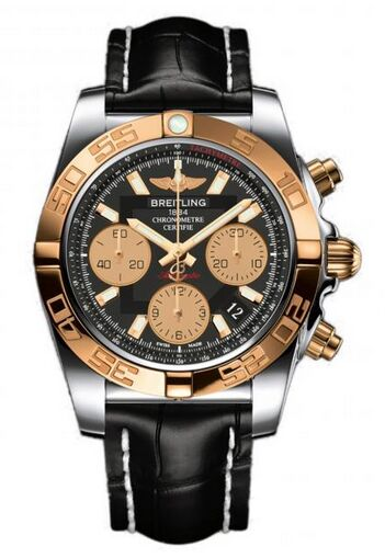 Breitling Chronomat 41 Stainless Steel & Gold Watch Replica