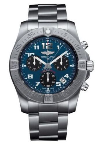 Breitling Mens Chronospace Evo B60 Titanium Blue DialWatch Replica