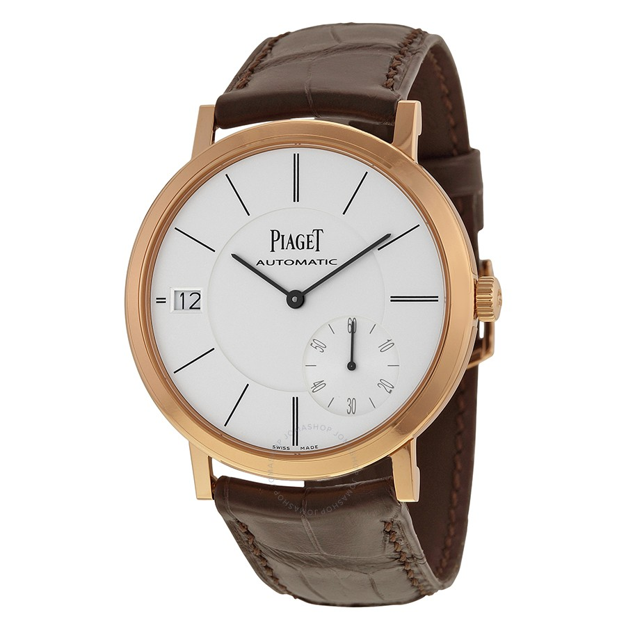 Piaget Altiplano Automatic Silver Dial Brown Leather Men's G0A38131