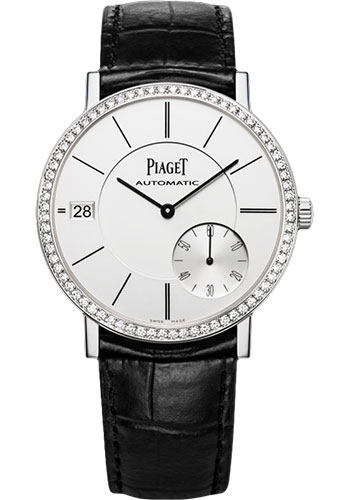 Piaget Altiplano Silvered Dial 18K White Gold Diamond Automatic Men's Wach GOA39138 G0A39138