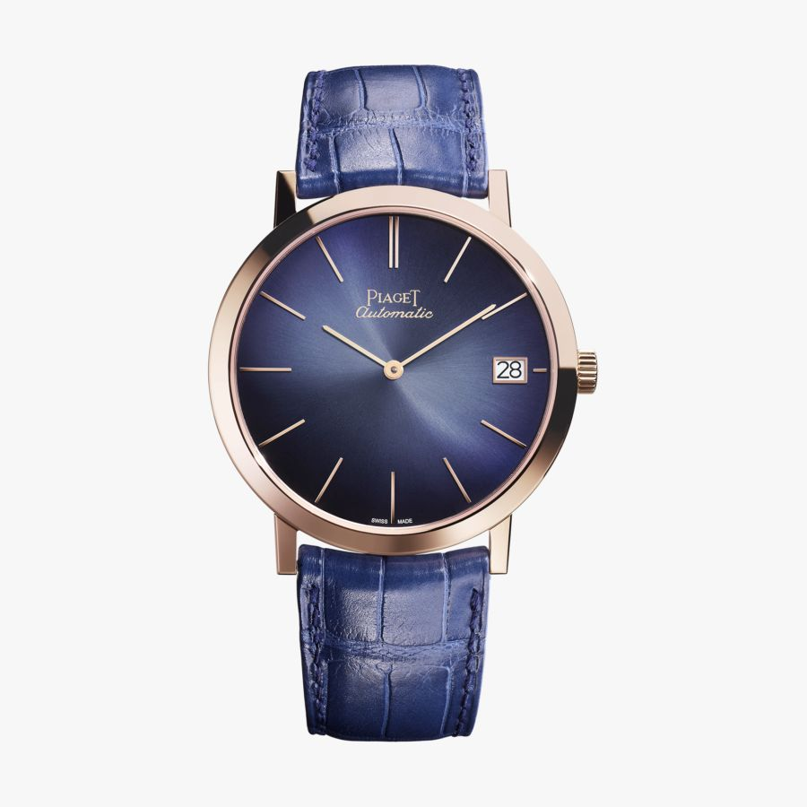 Piaget Altiplano Blue Dial Automatic Men's 18K Rose Gold G0A42051
