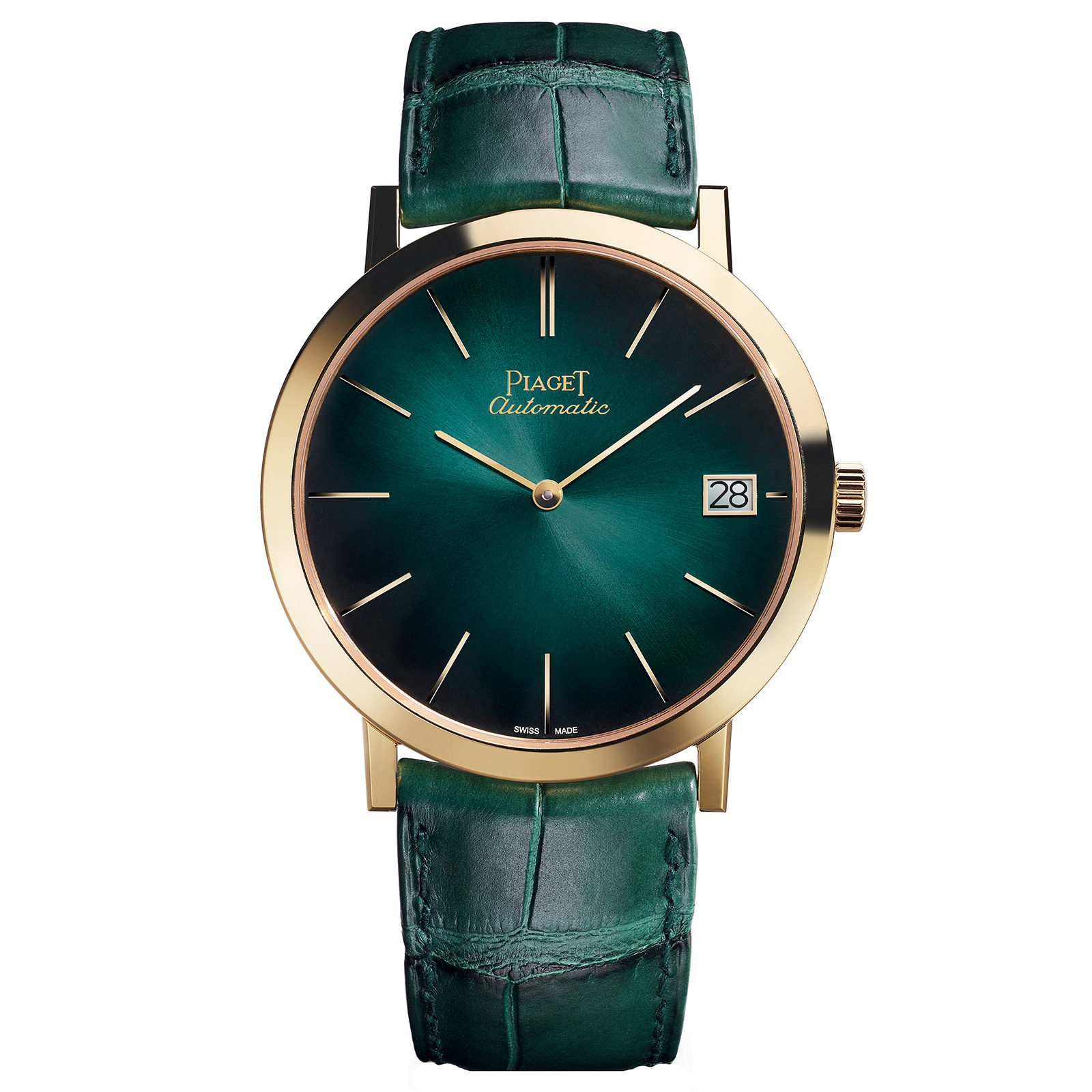 Piaget Altiplano Green Dial Automatic Men's 18K Yellow Gold G0A42052