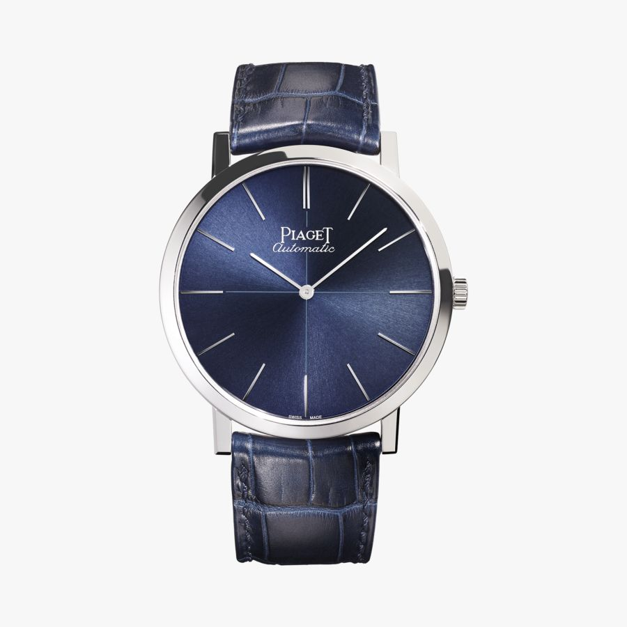 Piaget Altiplano Blue Dial Blue Leather Men's G0A42105