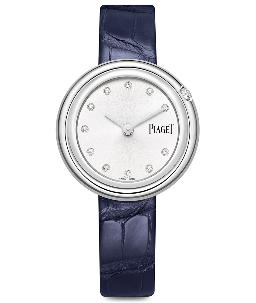 Piaget Possession Diamond Silver Dial Ladies Blue Leather G0A43090
