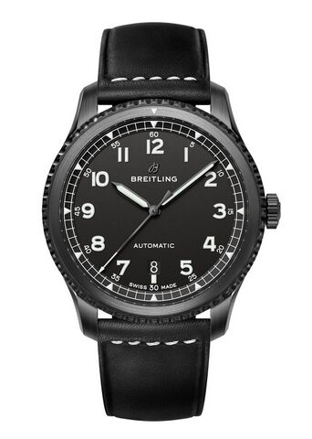 Breitling Navitimer 8 Automatic Blacksteel | Black Dial Leather Strap Watch Replica