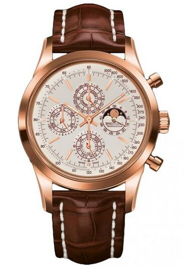 Breitling Transocean Chronograph QP Rose Gold Watch Replica