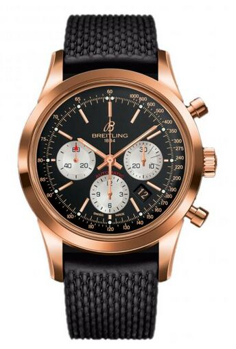Breitling Transocean Chronograph Rose Gold Watch Replica