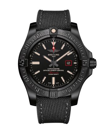 Breitling Avenger Blackbird 44 Black Titanium Watch Replica