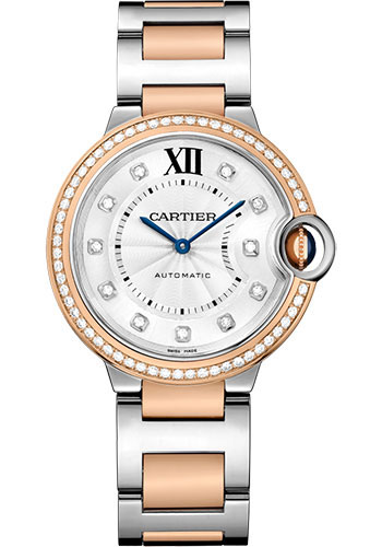 Cartier Ballon Bleu 36mm Steel And Pink Gold W3BB0004