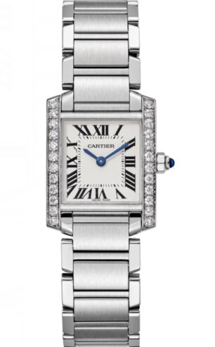 Cartier Tank Francaise Silver Dial Ladies W4TA0008