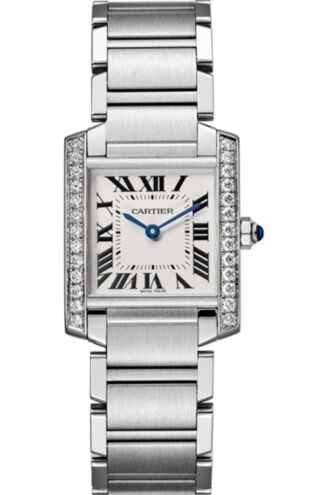 Cartier Tank Francaise Silver Dial Ladies W4TA0009