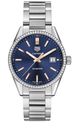 Tag Heuer Carrera Blue Dial Ladies Watch Replica