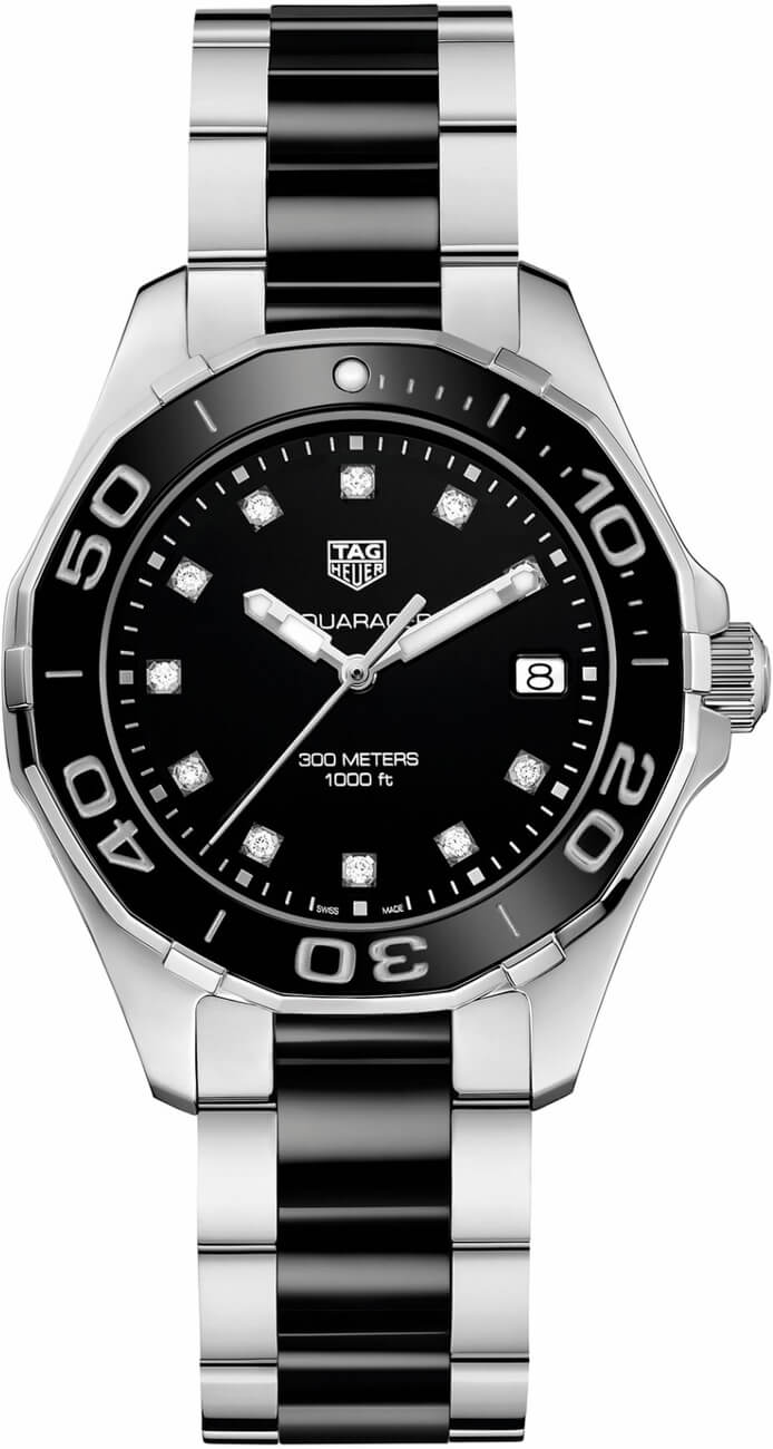 Tag Heuer Aquaracer Black Dial Diamond Ladies Watch Replica