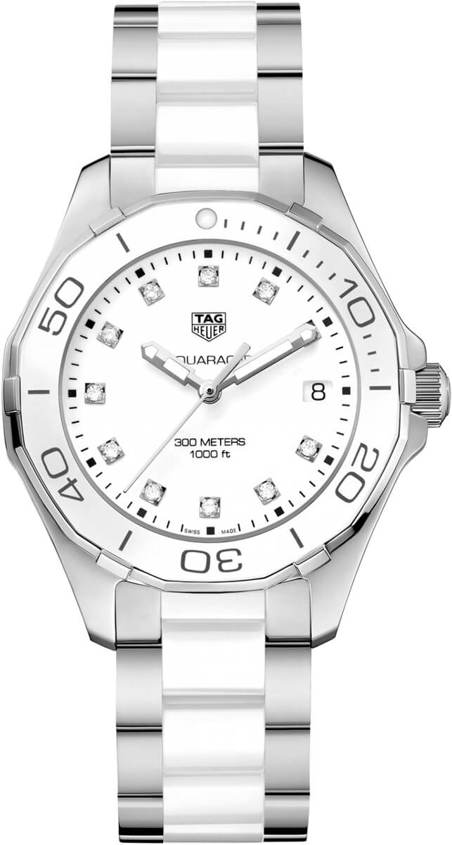 Tag Heuer Aquaracer White Dial Ladies Watch Replica